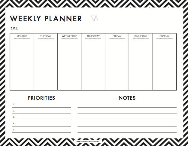 Resultado de imagem para weekly planner